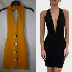 Orange Parisian sleeveless dress